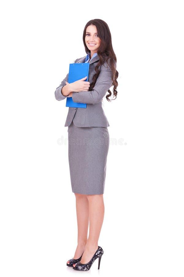 Mujer de negocios confidente imagenes de archivo