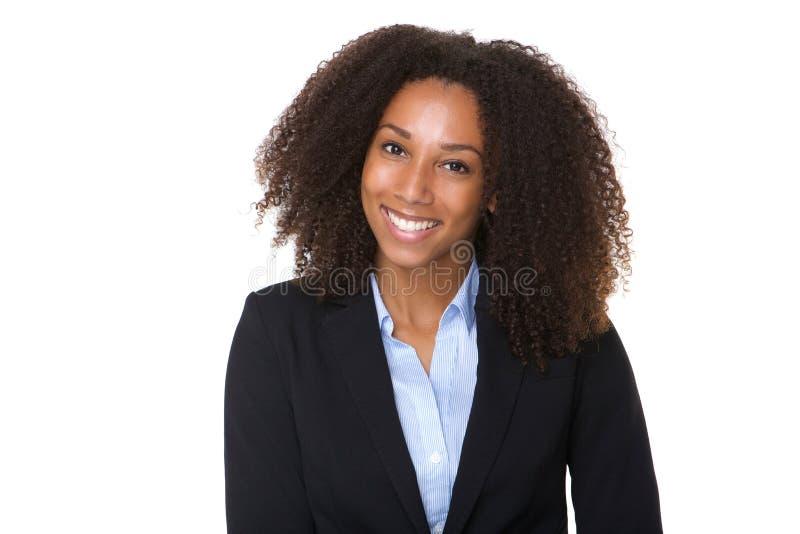 Mujer de negocios confidente del afroamericano foto de archivo libre de regalías