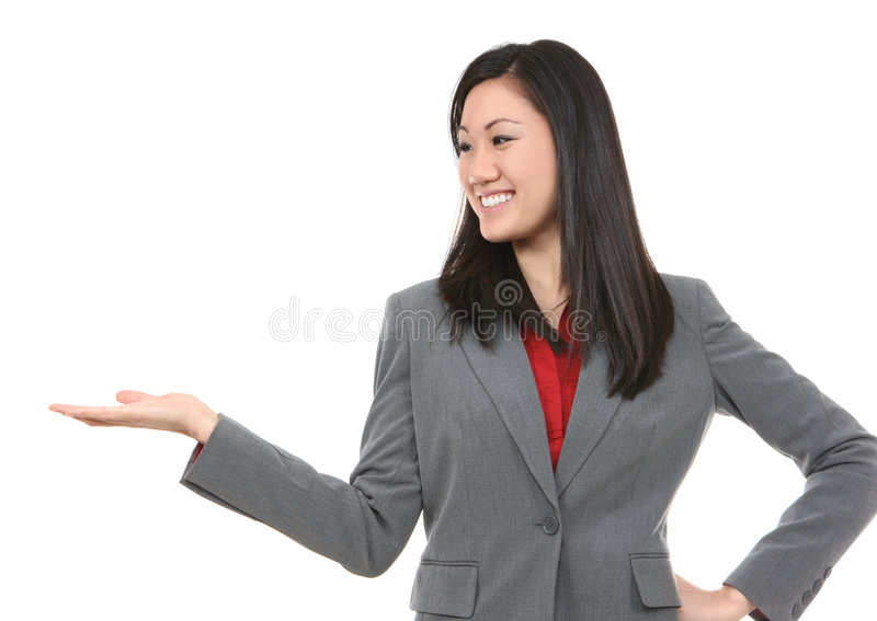 Mujer de negocios de Aisan imagen de archivo libre de regalías