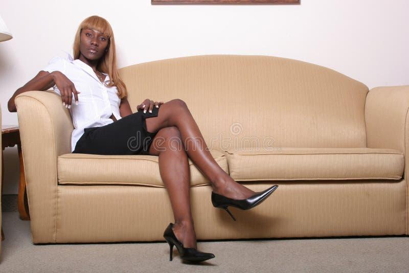 Mujer de negocios del afroamericano foto de archivo libre de regalías