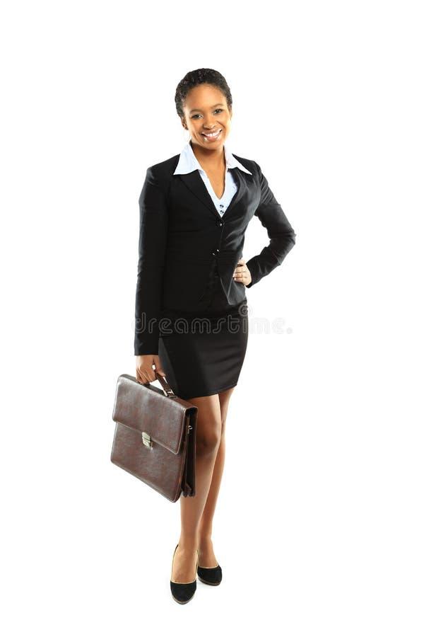 Mujer de negocios del afroamericano fotografía de archivo