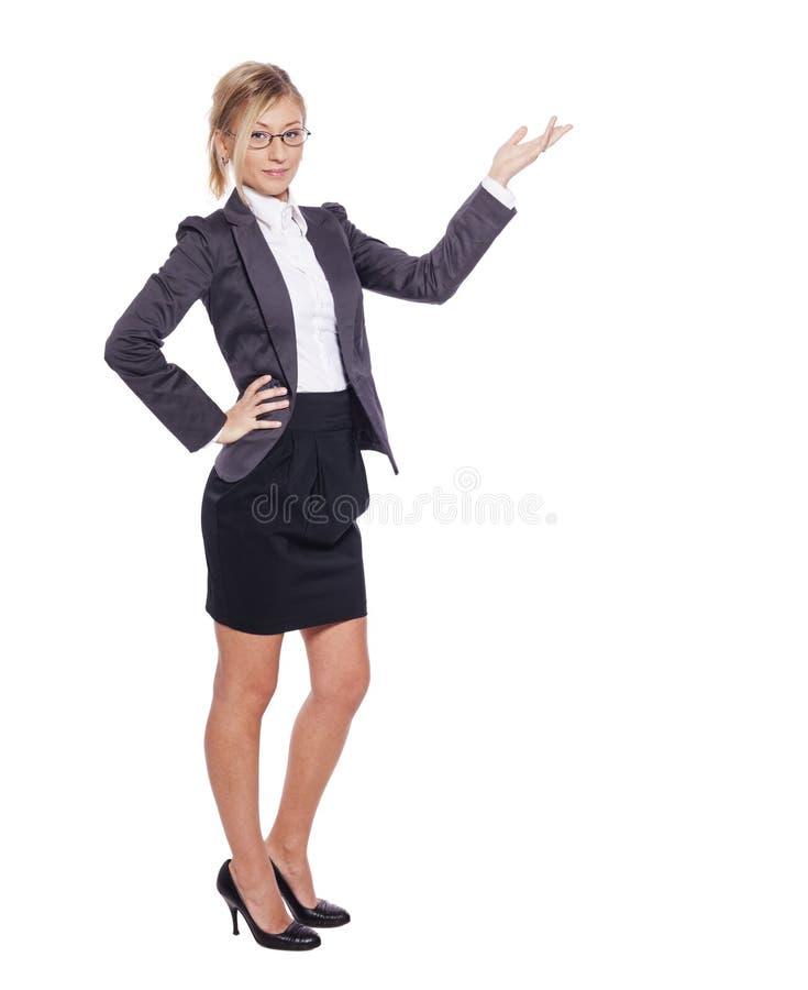 Mujer de negocios derecha foto de archivo libre de regalías