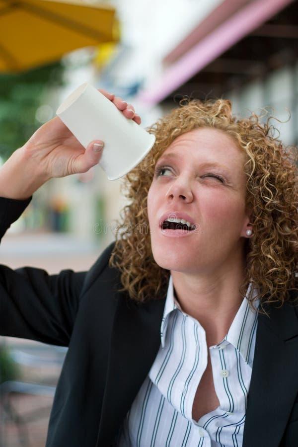 Mujer de negocios desesperada 2 imagenes de archivo