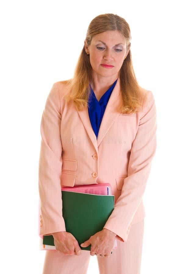 Mujer de negocios ejecutiva solemne imagen de archivo libre de regalías