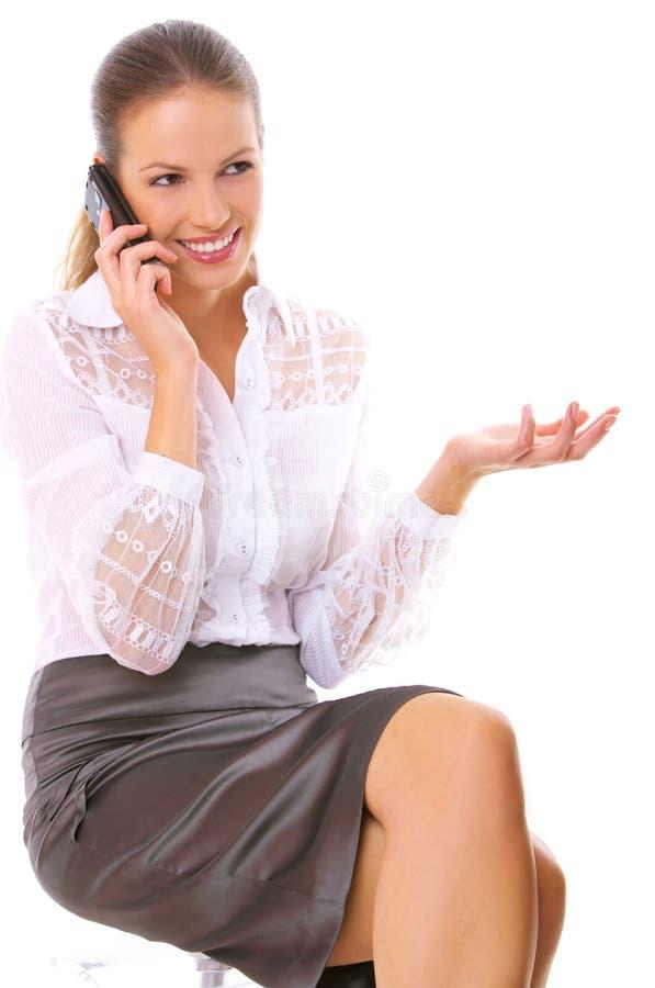 Mujer de negocios en el teléfono foto de archivo libre de regalías