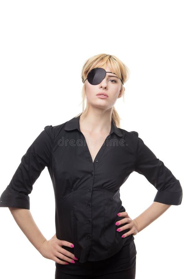 Mujer de negocios en una camisa fotografía de archivo
