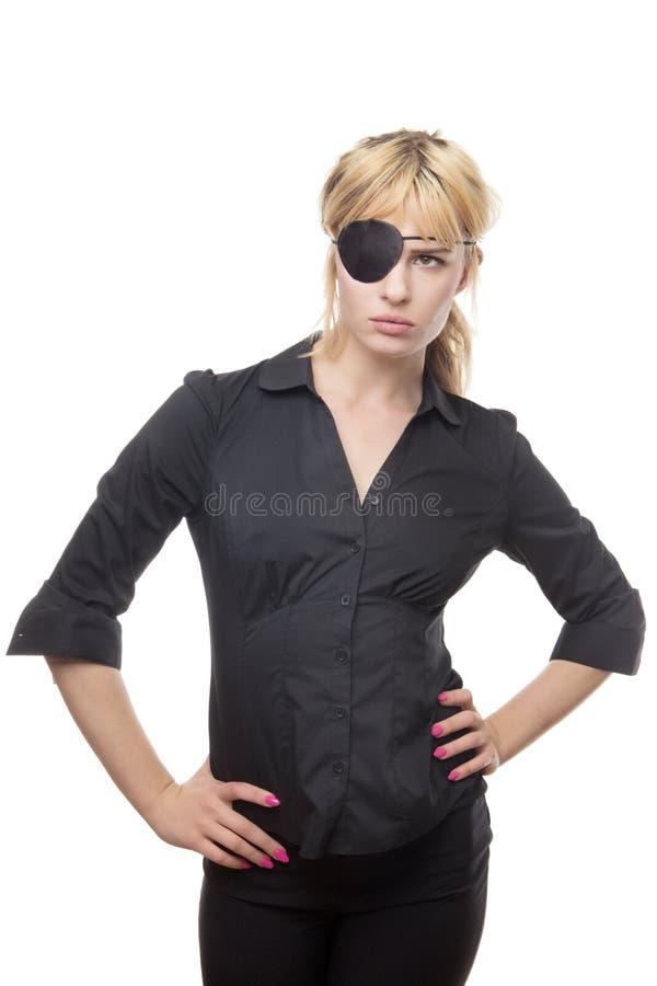 Mujer de negocios en una camisa imagenes de archivo