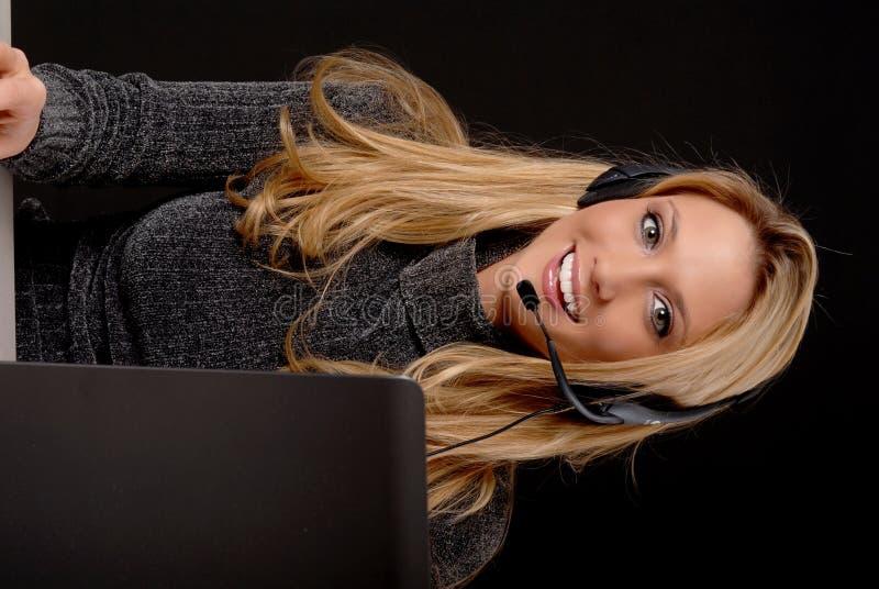 Mujer de negocios encantadora foto de archivo libre de regalías