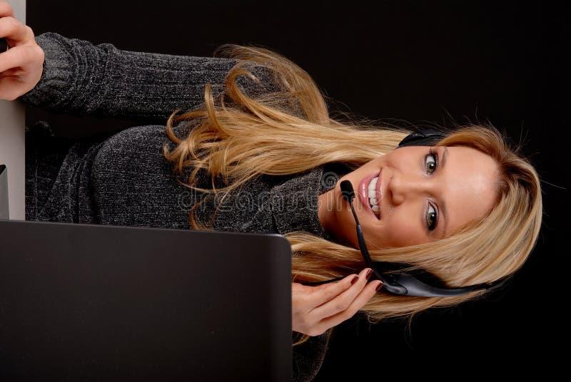 Mujer de negocios encantadora foto de archivo