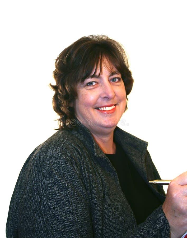 Mujer de negocios envejecida media fotografía de archivo libre de regalías