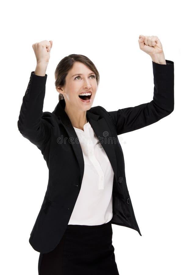Mujer de negocios feliz foto de archivo