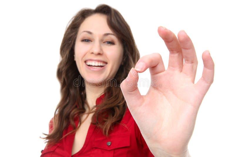 Mujer de negocios feliz del éxito foto de archivo