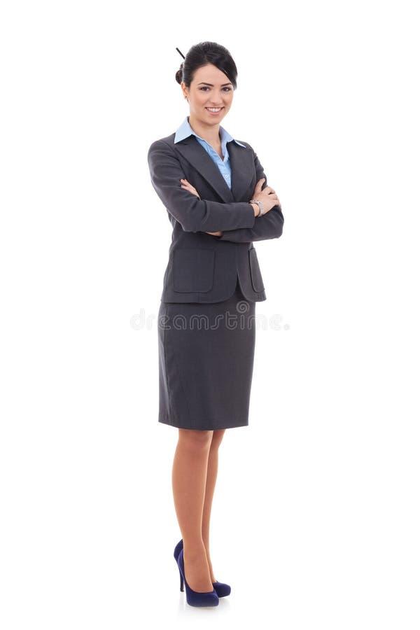 Mujer de negocios feliz joven fotos de archivo