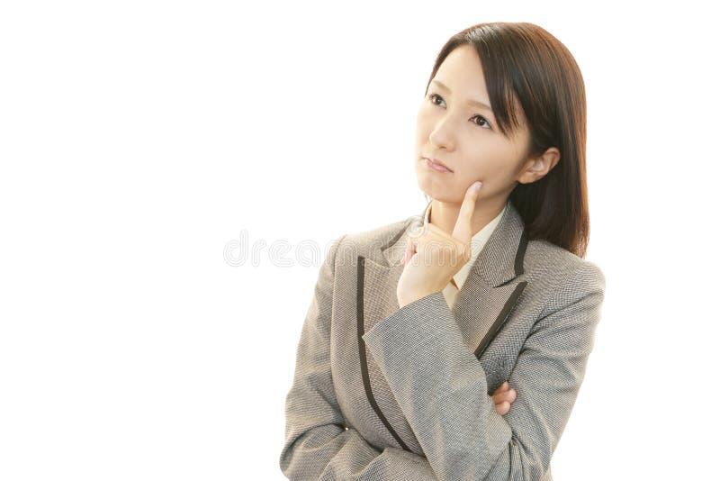 Mujer de negocios frustrada imagen de archivo libre de regalías