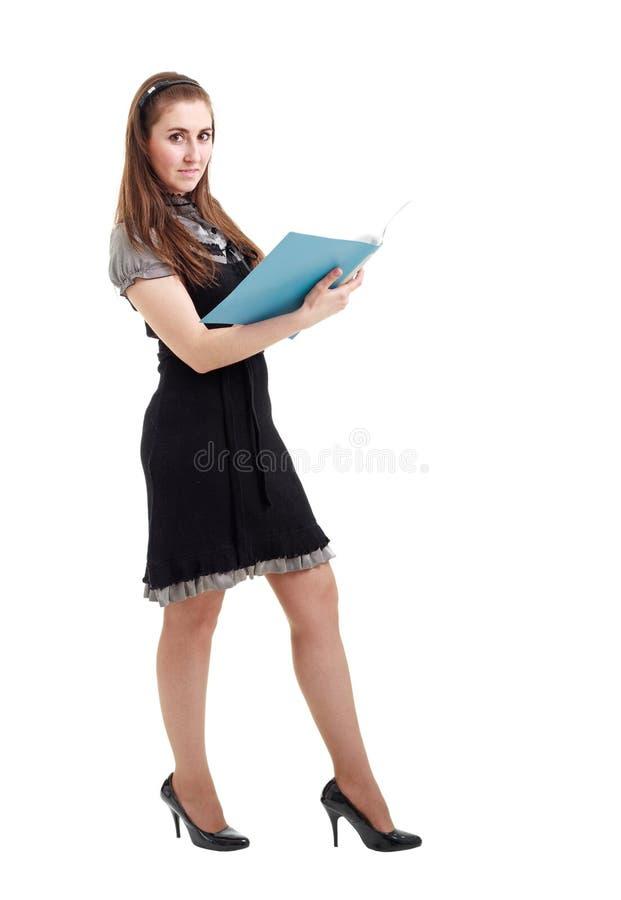 Mujer de negocios joven con la carpeta fotos de archivo