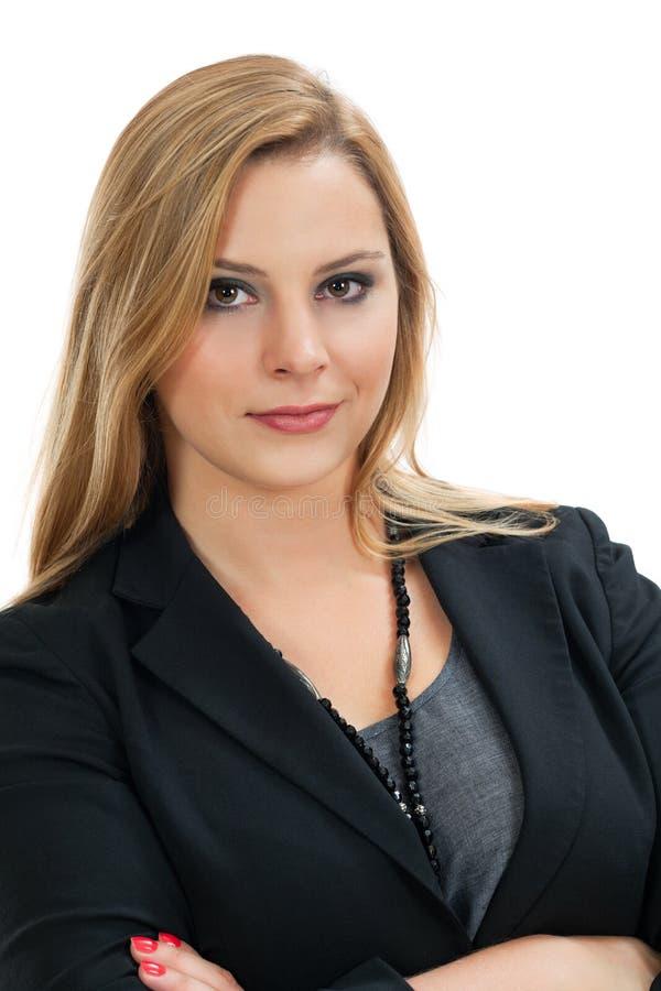 Mujer de negocios joven confidente foto de archivo
