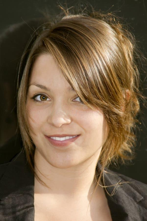 Mujer de negocios joven de la belleza foto de archivo