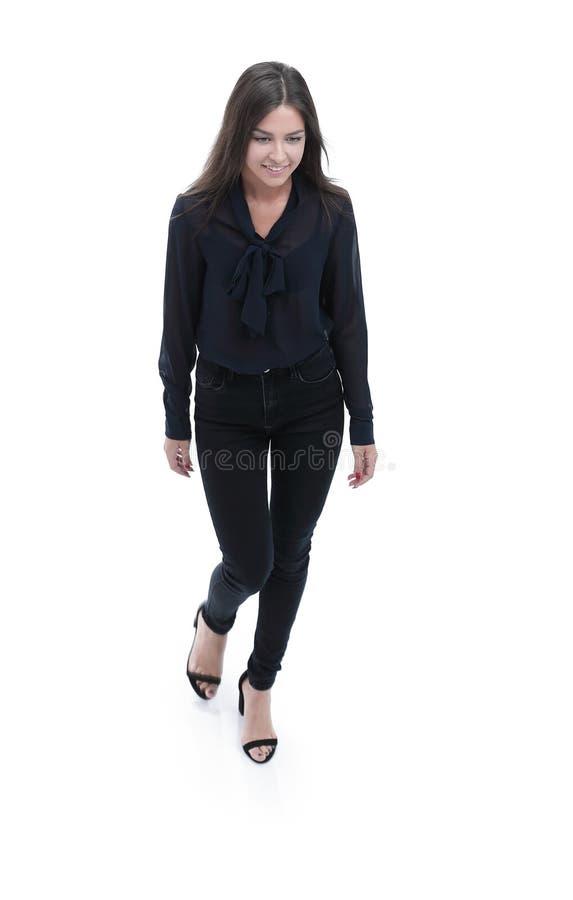 Download Mujer De Negocios Joven Que Se Mueve Con Confianza Adelante Imagen de archivo - Imagen de full, alegría: 100533999