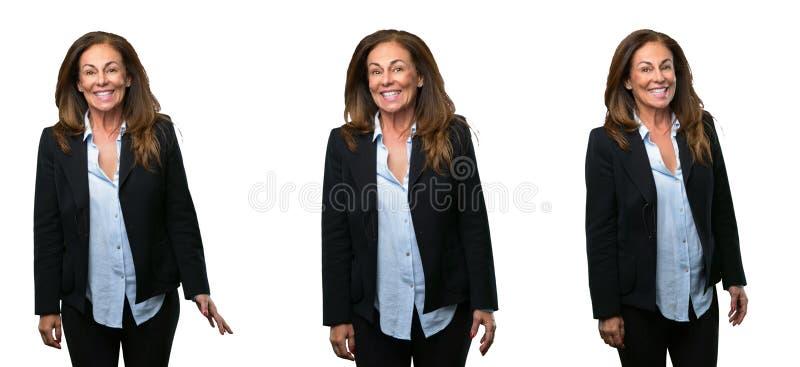 Mujer de negocios de la Edad Media con el pelo largo foto de archivo libre de regalías
