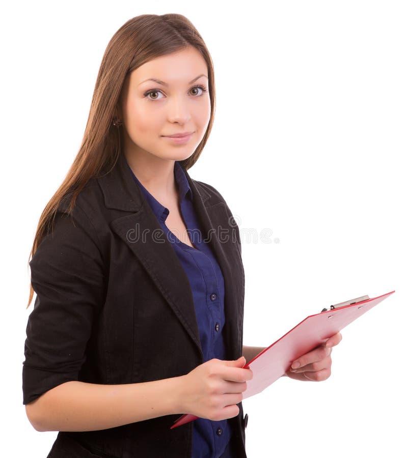 Mujer de negocios linda foto de archivo