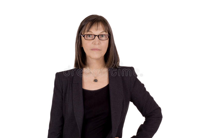 Mujer de negocios mayor seria foto de archivo libre de regalías