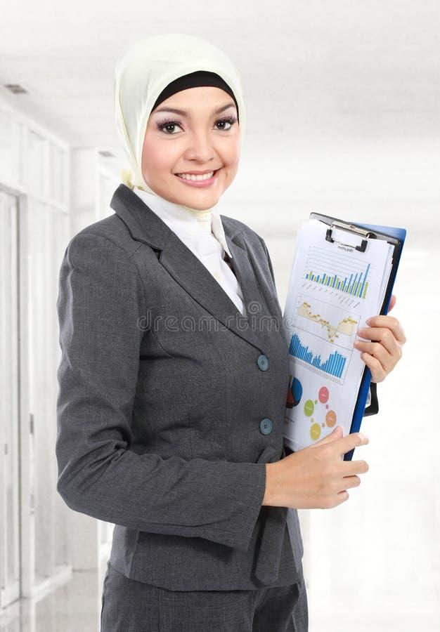 Mujer de negocios musulmán fotos de archivo