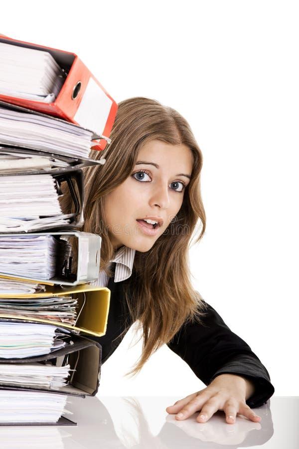 Mujer de negocios Over-Worked imágenes de archivo libres de regalías
