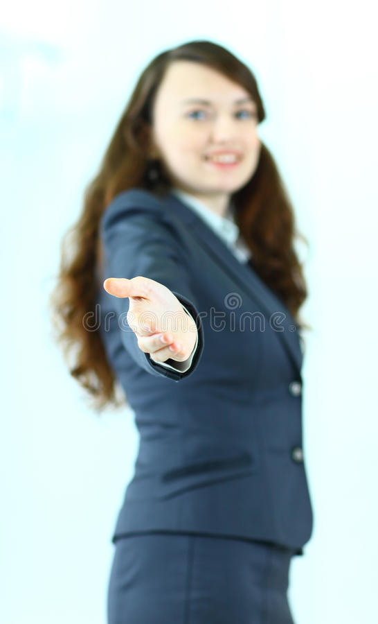 Mujer de negocios pensativa fotografía de archivo libre de regalías