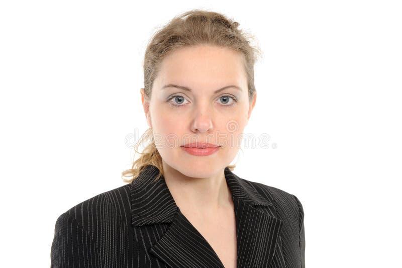 Mujer de negocios positiva fotografía de archivo libre de regalías