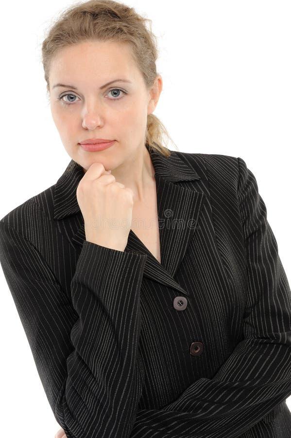 Mujer de negocios positiva fotos de archivo