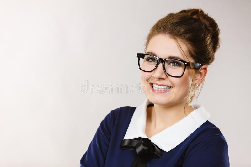 Download Mujer De Negocios Positiva Feliz, Contable Foto de archivo - Imagen de trabajo, businesswoman: 100525936