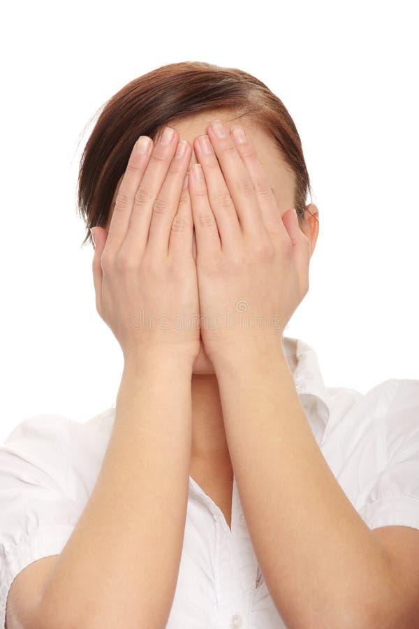 Mujer de negocios preocupada imágenes de archivo libres de regalías