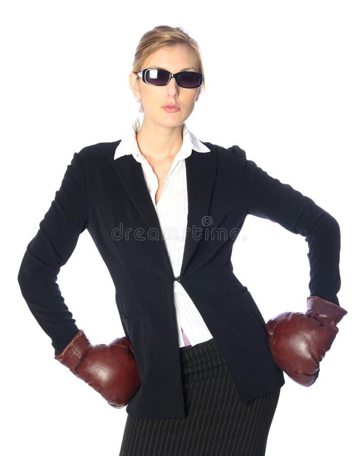 Mujer de negocios resistente imagen de archivo libre de regalías