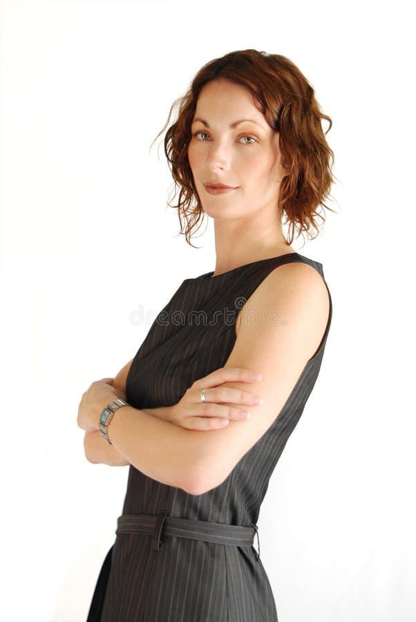 Mujer de negocios satisfecha imagen de archivo