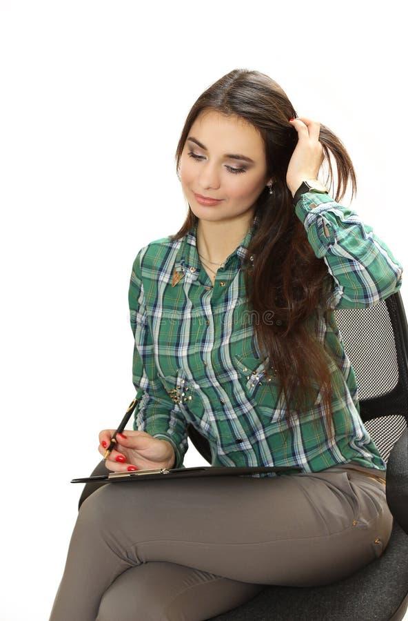 Mujer de negocios segura agradable imagen de archivo libre de regalías