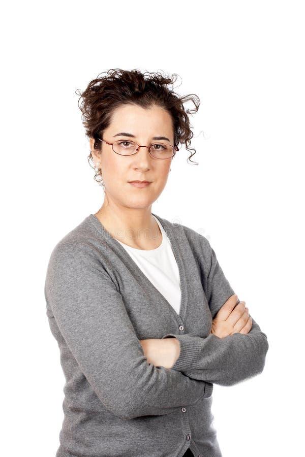 Mujer de negocios seria imágenes de archivo libres de regalías