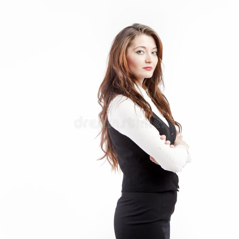 Mujer de negocios seria imagen de archivo libre de regalías