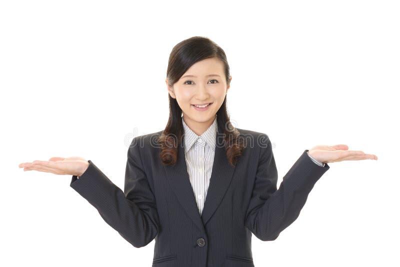 Mujer de negocios sonriente fotos de archivo