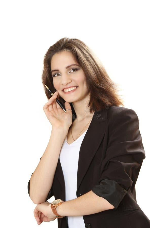Mujer de negocios sonriente agradable fotos de archivo