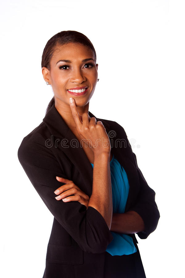 Mujer de negocios sonriente feliz imagen de archivo