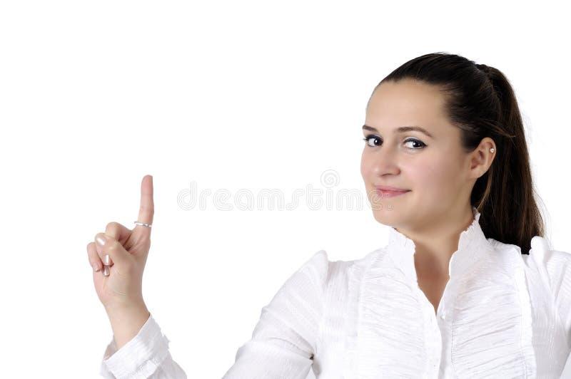 Mujer de negocios sonriente hermosa imagen de archivo libre de regalías