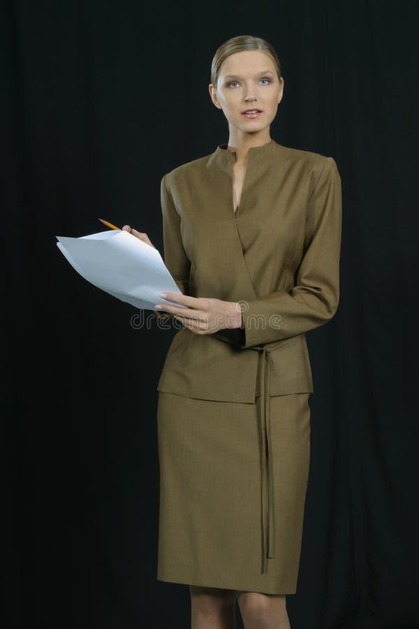 Mujer de negocios sonriente hermosa joven foto de archivo