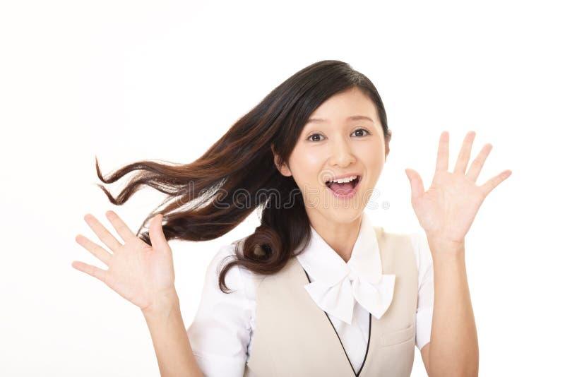 Mujer de negocios sonriente foto de archivo