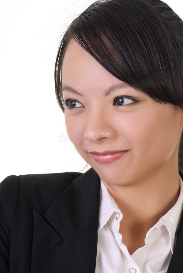 Mujer de negocios tímida imágenes de archivo libres de regalías