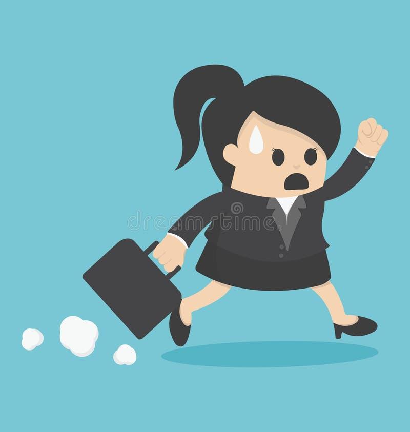 Mujer de negocios tarde para el trabajo libre illustration