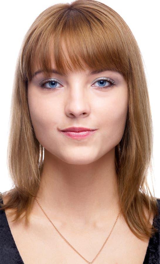 Mujer De Ojos Azules Atractiva Foto de archivo