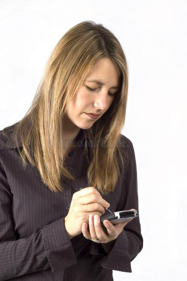 Mujer de PDA imágenes de archivo libres de regalías