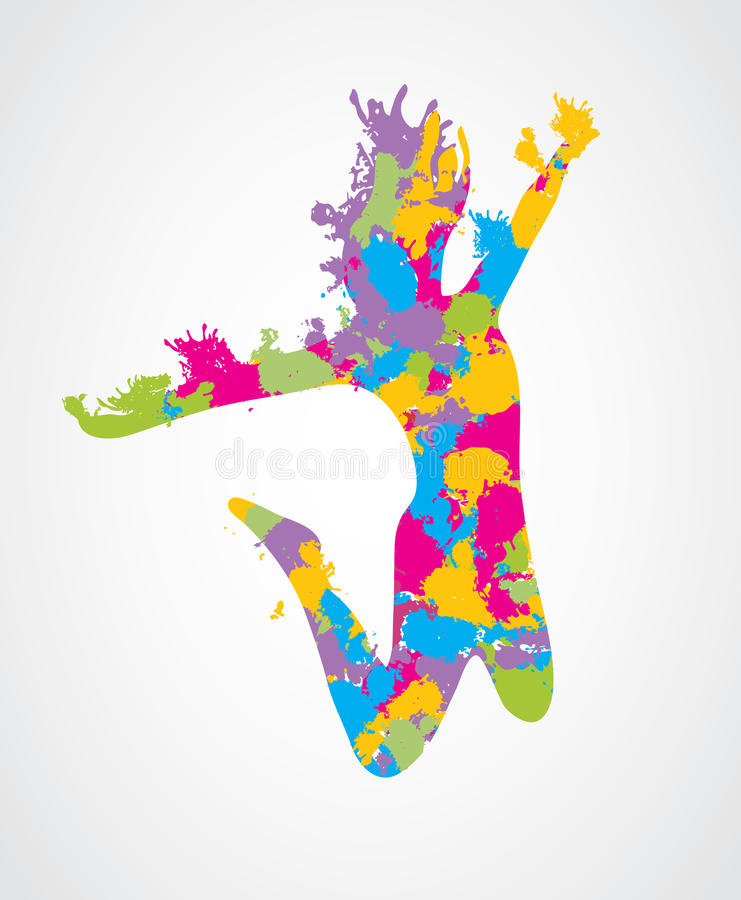 Mujer de salto libre illustration