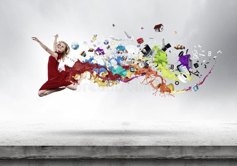 Mujer de salto imagen de archivo