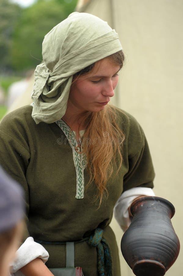 Mujer de Viking foto de archivo libre de regalías